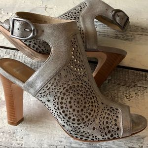Johnston & Murphy Metallic Laser Cut Leather Heels